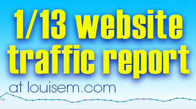 Website Traffic Report: January 2013