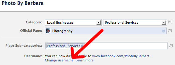 How to Change Your Facebook Page URL 2