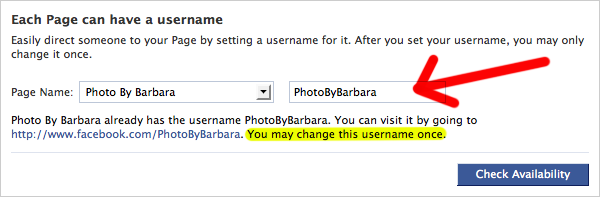 How to Change Your Facebook Page URL 3
