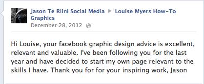 social media graphics testimonial