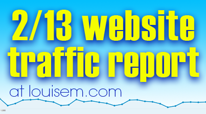 Website Traffic Report: February 2013
