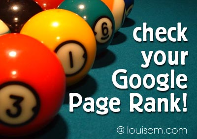 Check Page Rank with this Google Page Rank Tool