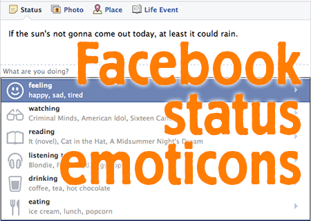 Facebook Emoticons in Status Updates