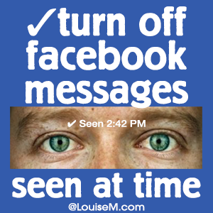 How to Turn Off Facebook Message Seen At Time