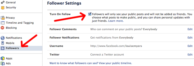Facebook Page Owner: Enable Followers