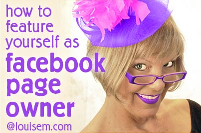 How to Feature Yourself as a Facebook Page Owner