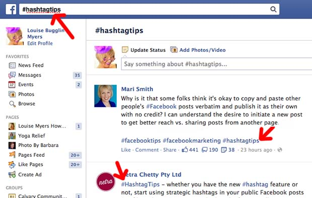 What Are Facebook Hashtags And Why Should I Care Louise Myers