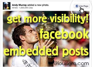 Get More Visibility with Facebook Embedded Posts