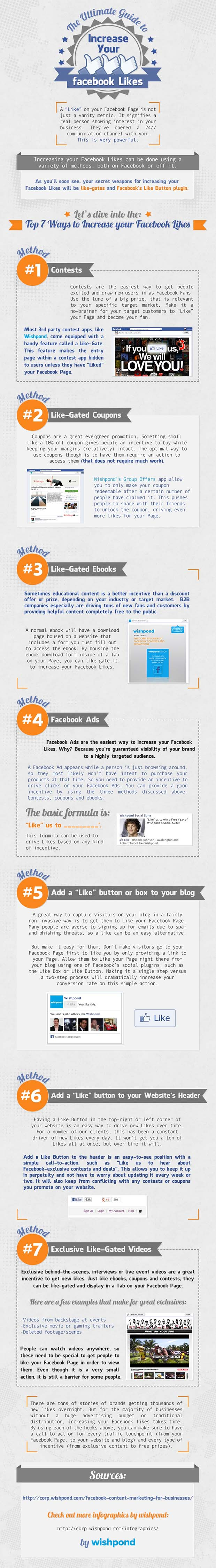 How to Get More Facebook Likes [infographic]