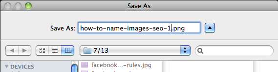 How to Name Images for SEO Step 2