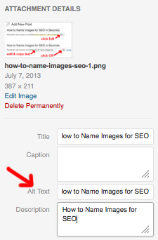 How to Name Images for SEO Step 3