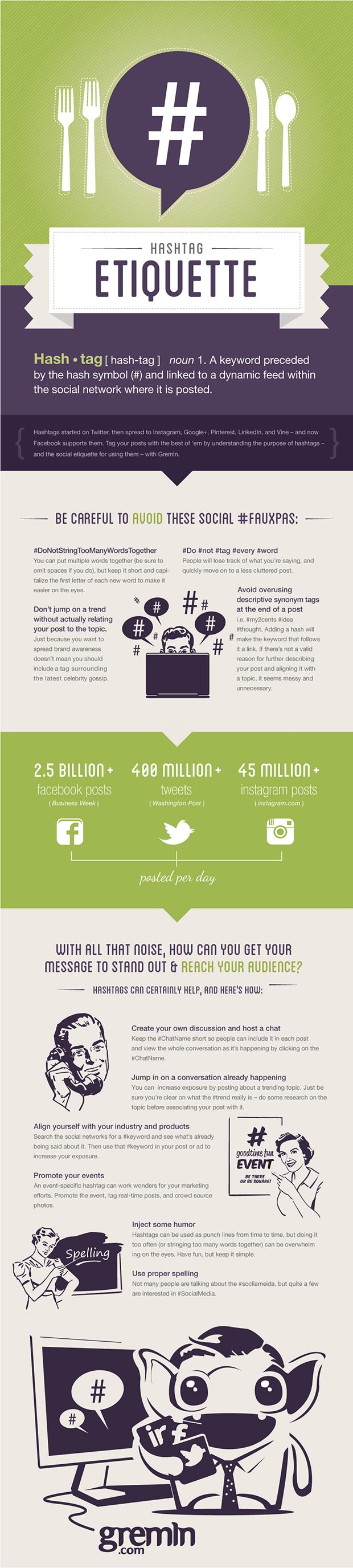 How to Use Hashtags with Etiquitte [infographic]