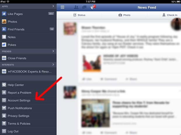 how to delete a post on facebook mobile