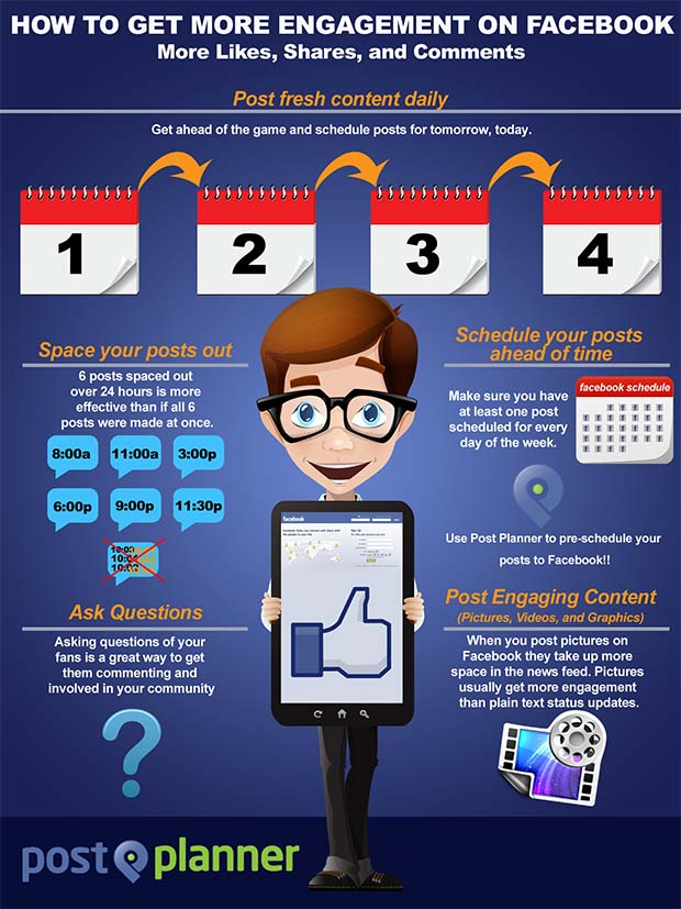 How to Get More Facebook Engagement [infographic]