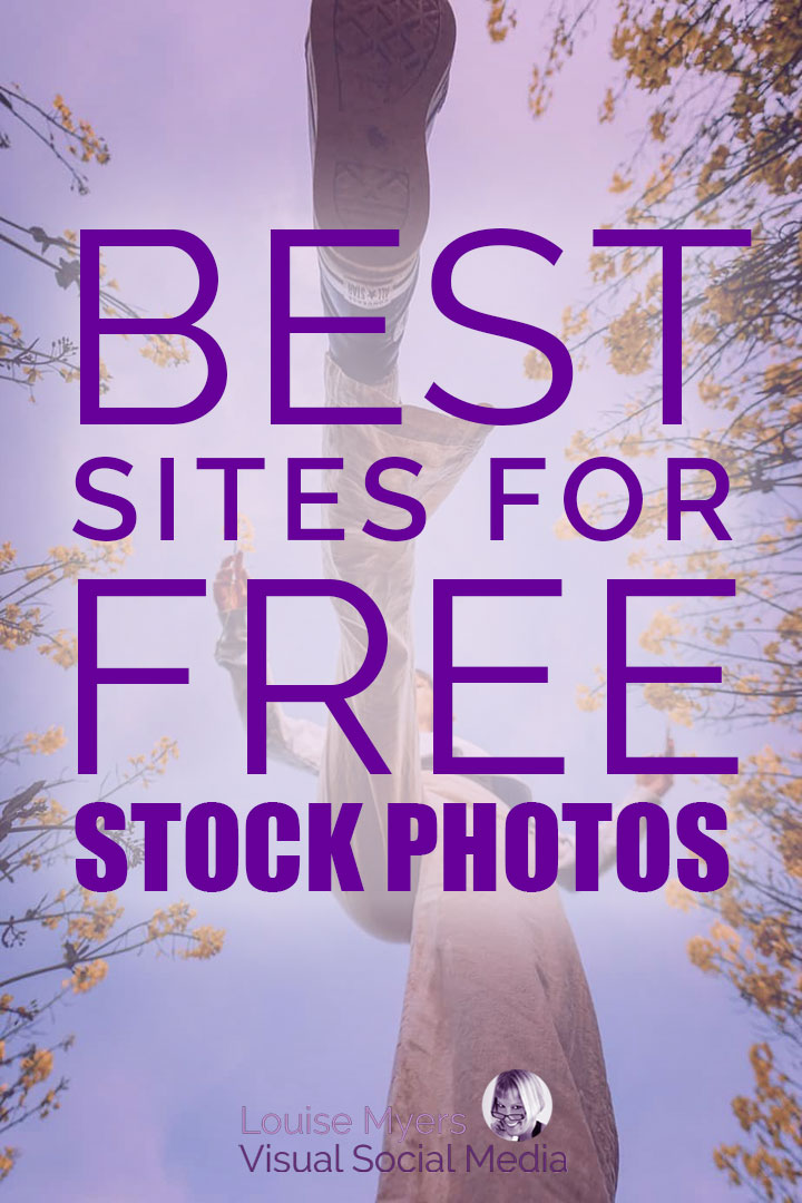pin image for stock photos with striding woman