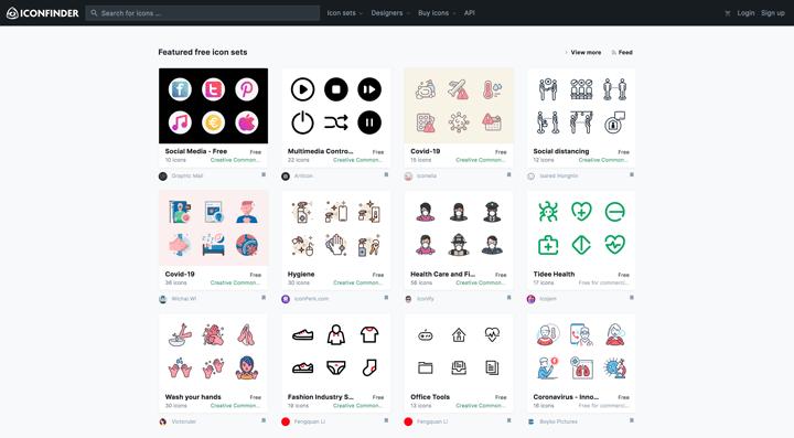 icon finder website