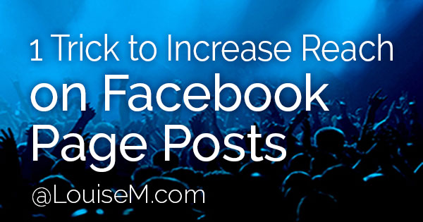 Facebook Page posts – it can be frustrating to get the reach and engagement we'd like, right? But here's an EASY way to increase Facebook reach!