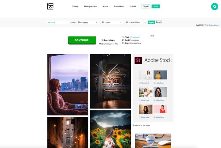 lifeofpix free stock photos site screenshot
