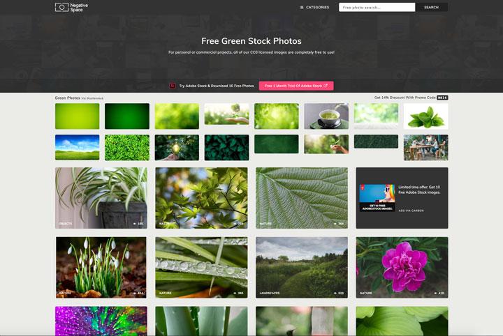 negative space green photos
