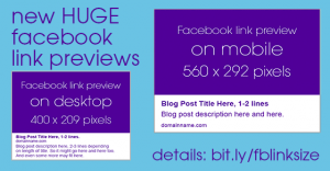 NEW Facebook Link Thumbnails: Optimize Your Blog Images!