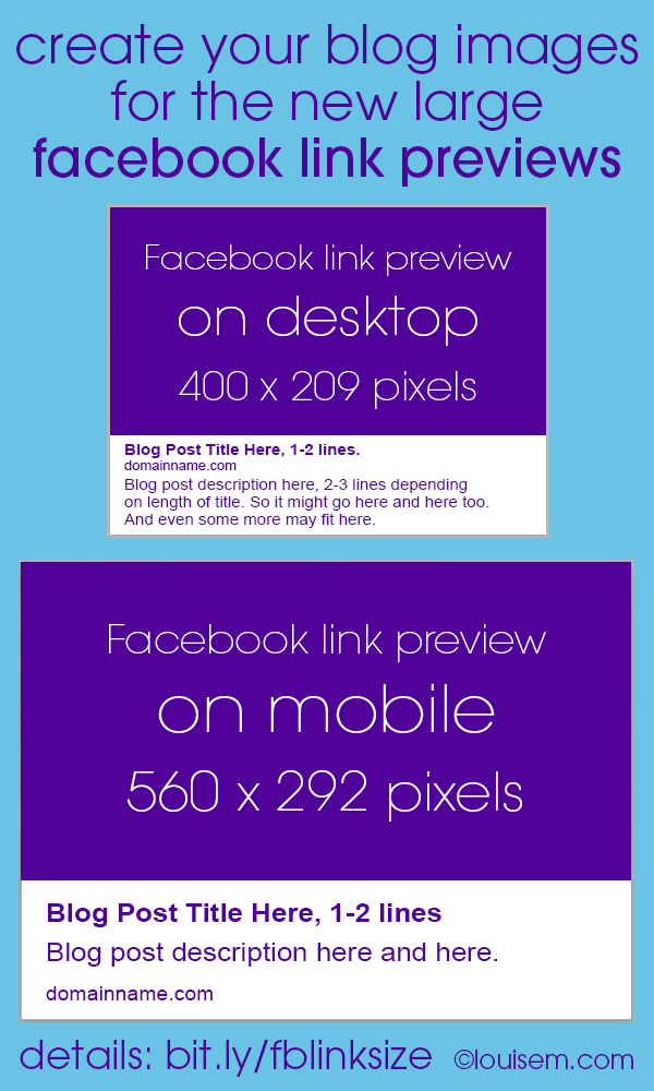 Facebook Link Thumbnail Image Sizes