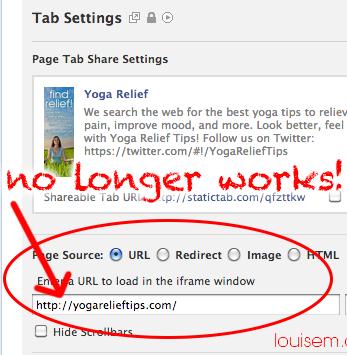 Facebook Tabs Missing: settings