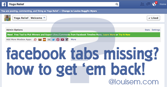 Facebook Tabs Missing? Here's Why, and What To Do Now