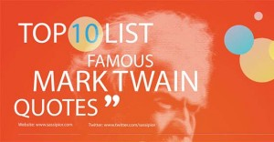 Famous Mark Twain Quotes [Tweetables and Infographic]