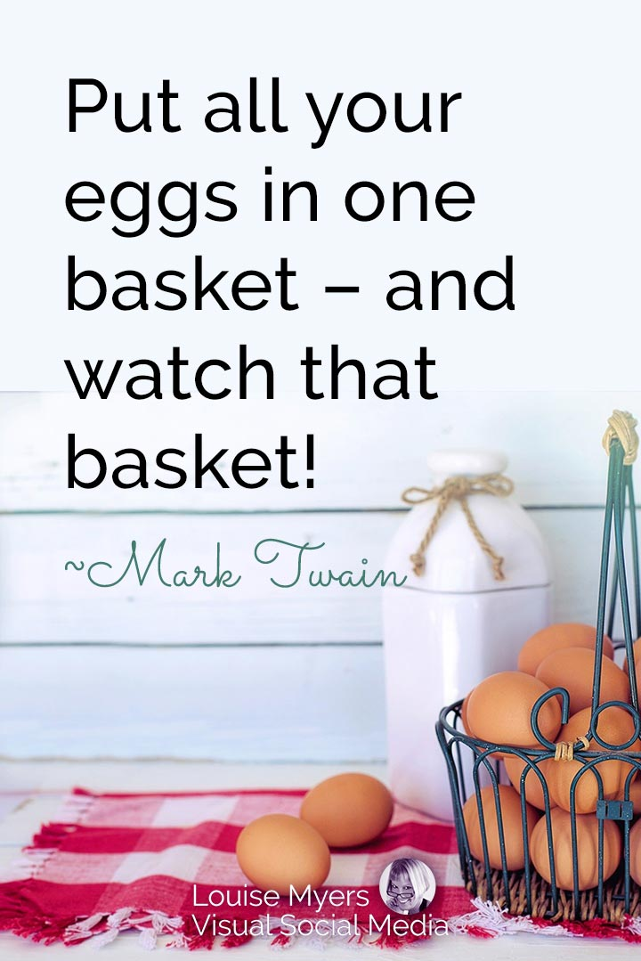 Mark Twain quote image: put your eggs in one basket