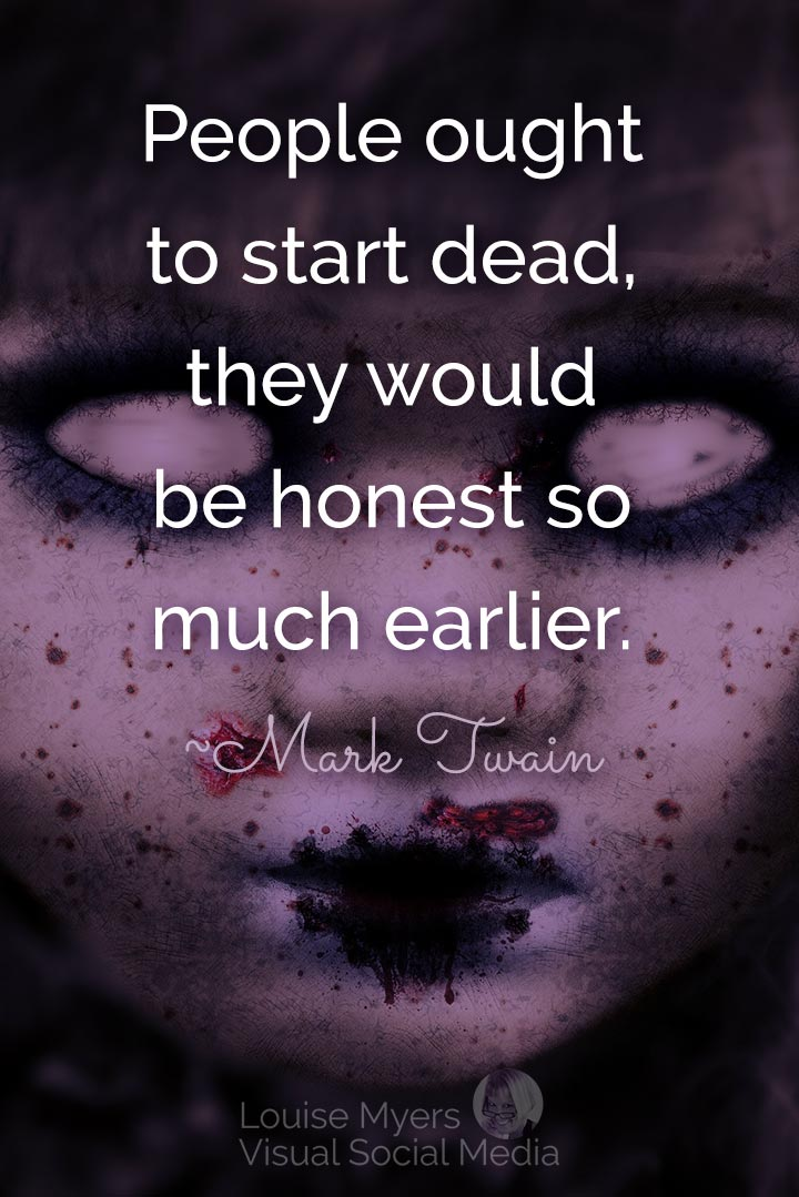 Mark Twain quote image: dead people are more honest