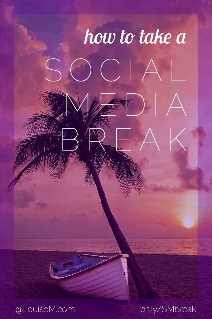 Need a social media break? Keep things from crashing in your absence! Try these suggestions for your blog, Facebook, Twitter, Pinterest, Instagram and more.