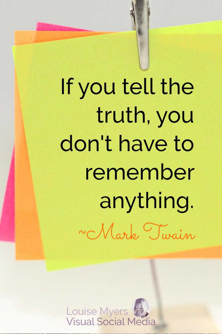 Mark Twain quote image: if you tell the truth