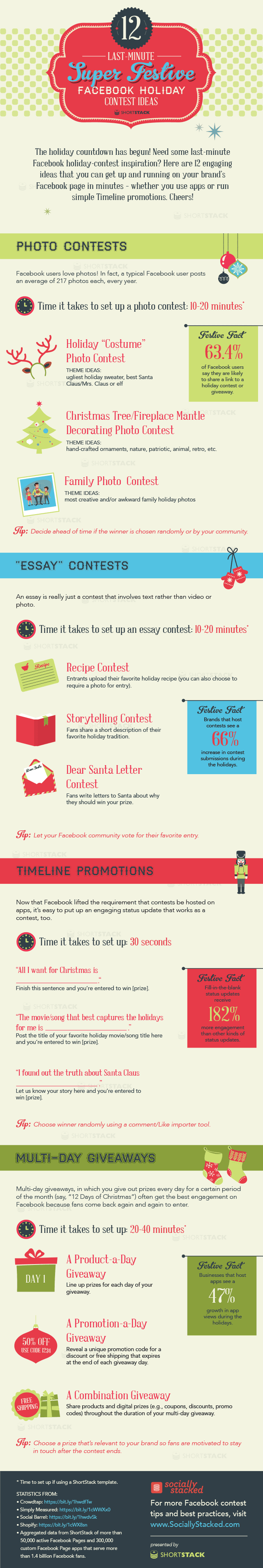 12 Facebook Contest Ideas for the Holidays [infographic]