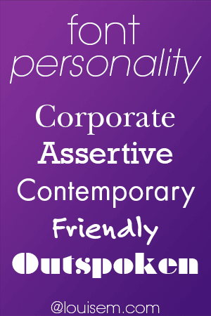 What's Your Font's Personality Type?