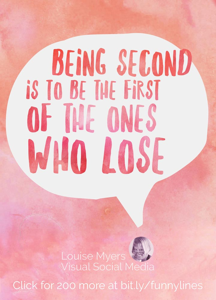 Being second is to be the first of the ones who lose