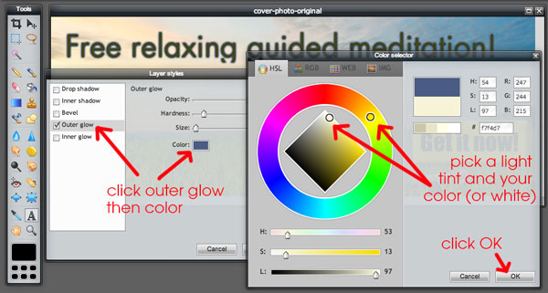 How to Make Text Stand Out with Outer Glow Effect Step 1