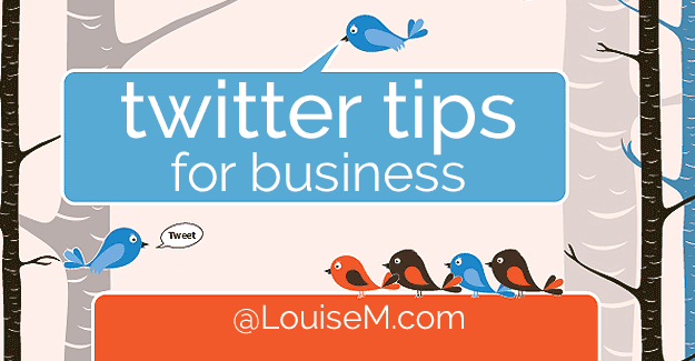 20 Twitter Tips for Business you can tweet at a click of your mouse. Plus a Twitter for Business infographic to pin. It's a treasure trove of Twitter tips!