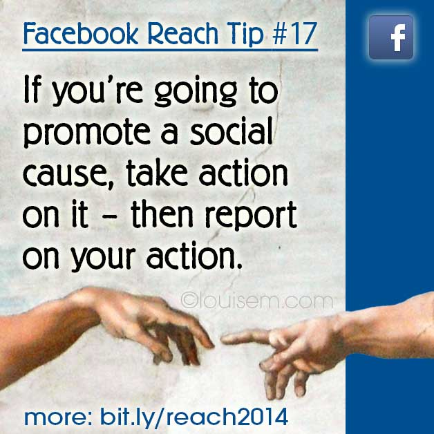 Increase Facebook Reach Tips: Using Facebook For Social Causes Without Being Depressing