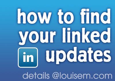 Where Can I Find My LinkedIn Updates?