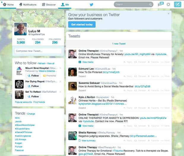 New Twitter Home Feed Layout
