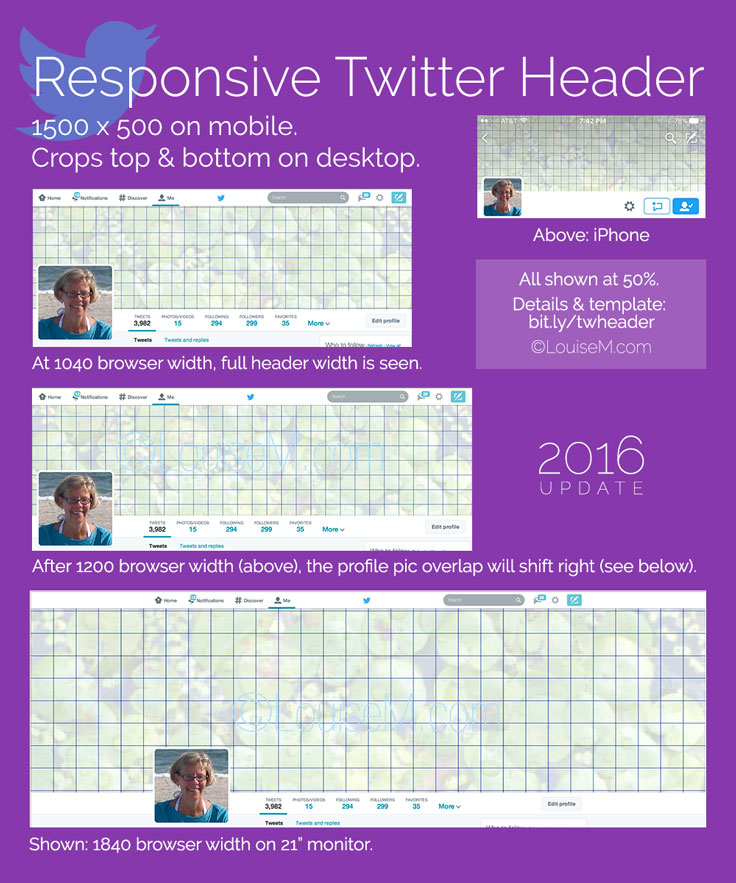 Responsive Twitter Header Size and Template [2016] Click through to blog to download the FREE template! (no opt-in necessary)
