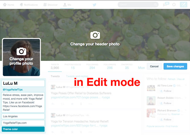 New Twitter Edit Mode 2014
