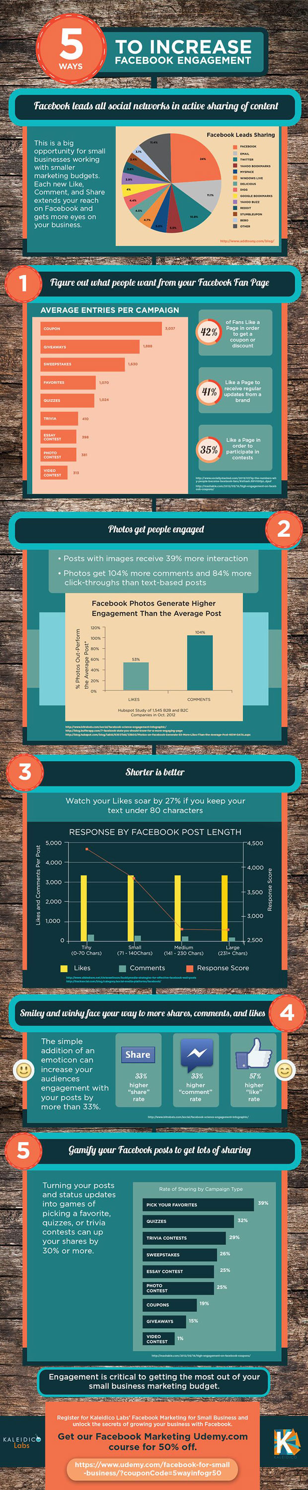 5 Ways to Increase Facebook Engagement: Infographic