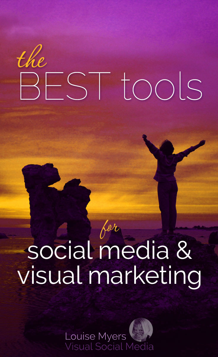 The BEST social media and visual marketing tools for small businesses, bloggers, and entrepreneurs. Click to blog to learn which will work for YOU! DIY graphics, done-for-you marketing, scheduling tools, strategy, and courses.