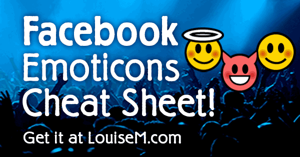 Facebook Emoticons List Infographic Copypaste Text