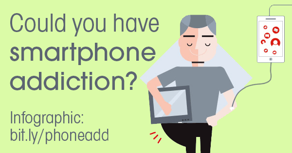 Smartphone Addiction: Could You Have It? Infographic