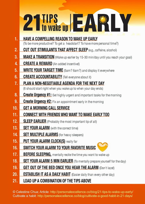how to wake up early How to wake up early 1k likes waking up early is a productivity method of rising early and consistently so as to be able to accomplish more during the.
