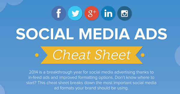 Essential Social Media Ad Sizes: Cheat Sheet 2014