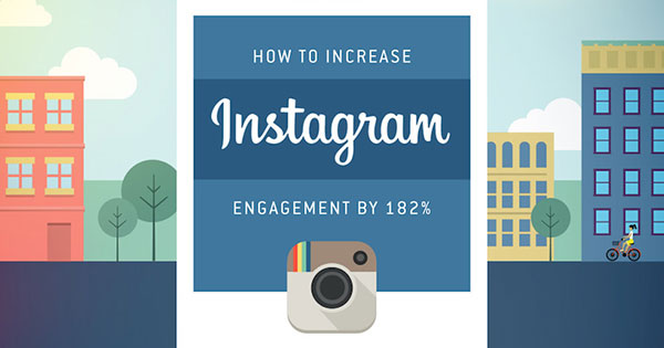 How to Increase Instagram Engagement by 182%! Infographic