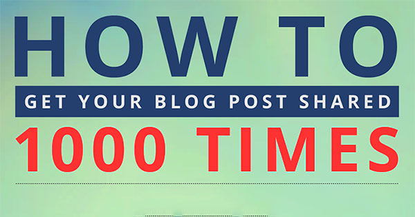 How to Get Your Blog Post Shared 1,000 Times